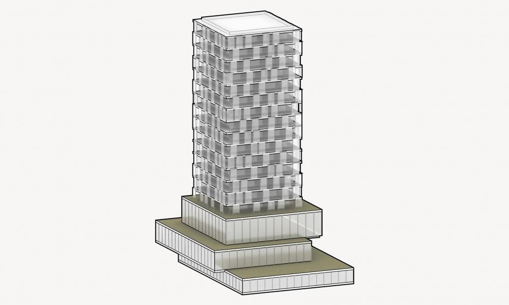 TOWER facade axos